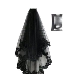 Black 2 layer Veil